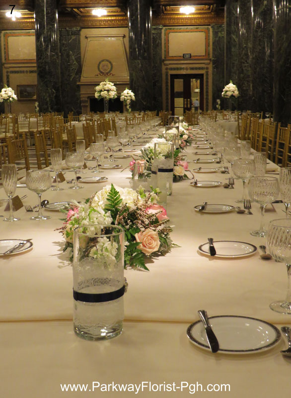 Wedding Reception Flowers by Parkway Florist