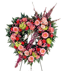 Eternal Rest Heart Wreath from Parkway Florist in Pittsburg PA