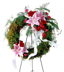 Lily & Rose Wreath from Parkway Florist in Pittsburg PA