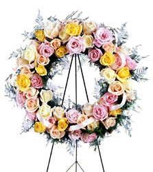 Vibrant Sympathy Wreath from Parkway Florist in Pittsburg PA