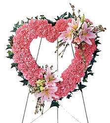 Our Love Eternal Heart Wreath from Parkway Florist in Pittsburg PA
