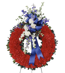 All American Tribute Wreath from Parkway Florist in Pittsburg PA