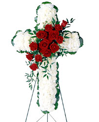 Floral Cross Arrangement from Parkway Florist in Pittsburg PA