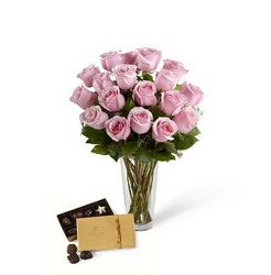 The FTD Pink Rose & Godiva Bouquet from Parkway Florist in Pittsburg PA