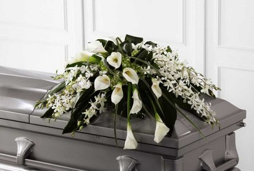 The FTD Angel Wings(tm) Casket Spray from Parkway Florist in Pittsburg PA