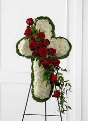 The FTD Floral Cross Easel from Parkway Florist in Pittsburg PA