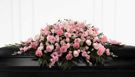 The FTD Sweetly Rest(tm) Casket Spray from Parkway Florist in Pittsburg PA