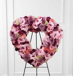 The FTD Eternal Rest(tm) Standing Heart  from Parkway Florist in Pittsburgh PA