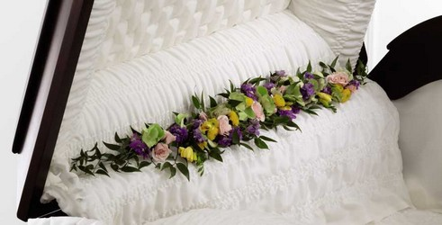 The FTD Trail of Flowers(tm) Casket Adornment from Parkway Florist in Pittsburgh PA