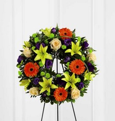The FTD Radiant Remembrance(tm) Wreath from Parkway Florist in Pittsburg PA