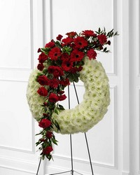 The FTD Graceful Tribute(tm) Wreath from Parkway Florist in Pittsburg PA