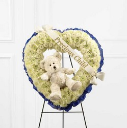 The FTD Precious Child(tm) Standing Heart from Parkway Florist in Pittsburgh PA