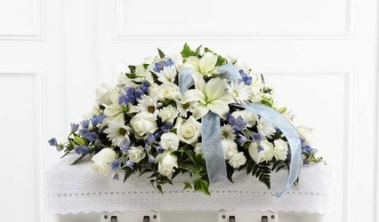 The FTD Tender Treasure(tm) Casket Spray from Parkway Florist in Pittsburgh PA
