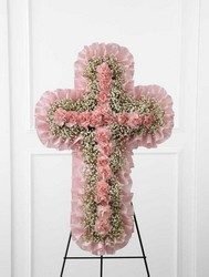 The FTD Angel's Cross(tm) Easel from Parkway Florist in Pittsburg PA