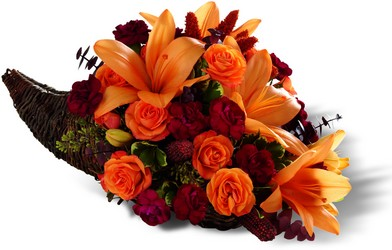 The FTD Harvest Home Cornucopia from Parkway Florist in Pittsburgh PA