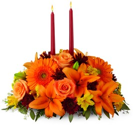 Bright Autumn Centerpiece from Parkway Florist in Pittsburgh PA