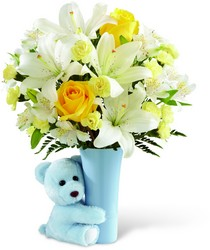 The FTD Baby Boy Big Hug Bouquet from Parkway Florist in Pittsburgh PA
