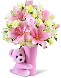 The FTD Baby Girl Big Hug Bouquet from Parkway Florist in Pittsburgh PA
