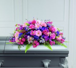 The FTD Glorious Garden Casket Spray from Parkway Florist in Pittsburgh PA