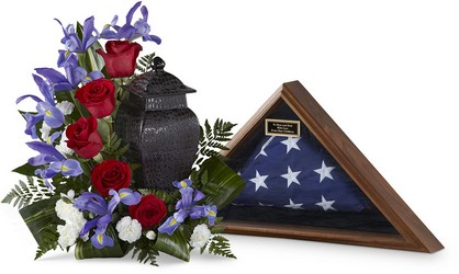 The FTD Patriotic Tribute Arrangement from Parkway Florist in Pittsburg PA