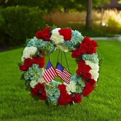 The FTD To Honor One's Country Wreath from Parkway Florist in Pittsburg PA