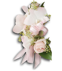 Beautiful Blush Corsage from Parkway Florist in Pittsburgh PA