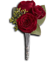 King's Red Rose Boutonniere from Parkway Florist in Pittsburgh PA