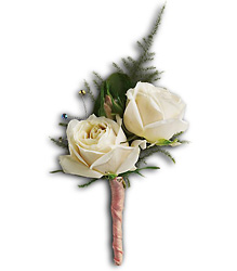 White Tie Boutonniere from Parkway Florist in Pittsburg PA