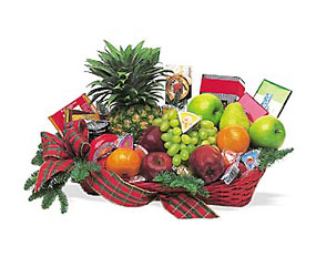 Fruit and Gourmet Basket - Deluxe from Parkway Florist in Pittsburgh PA
