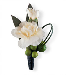 Carnation and Berries Boutonniere from Parkway Florist in Pittsburgh PA