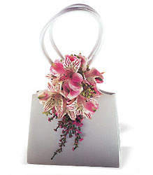 Ruffled Pinks Purse Corsage from Parkway Florist in Pittsburgh PA