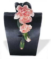 Cascading Carnations Purse Corsage from Parkway Florist in Pittsburgh PA