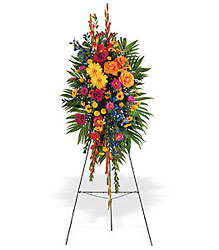 Celebration of Life Standing Spray from Parkway Florist in Pittsburg PA